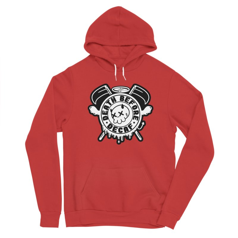 Death Before Decaf White Men's Pullover Hoody by Darling Homebody