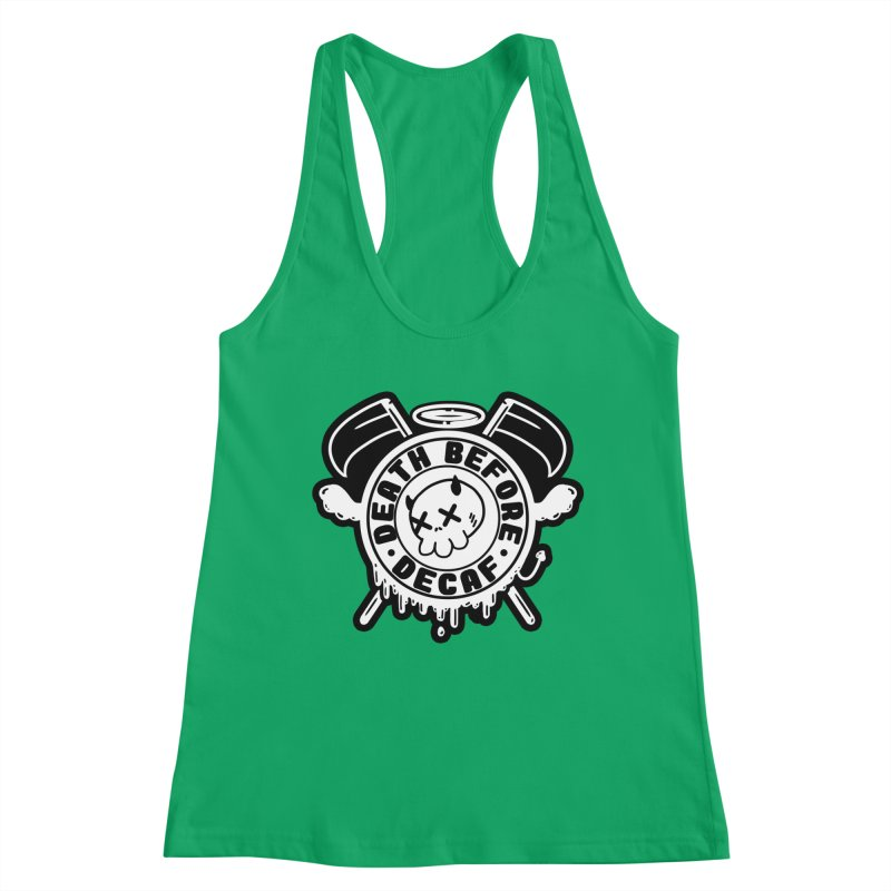 Death Before Decaf White Women's Tank by Darling Homebody