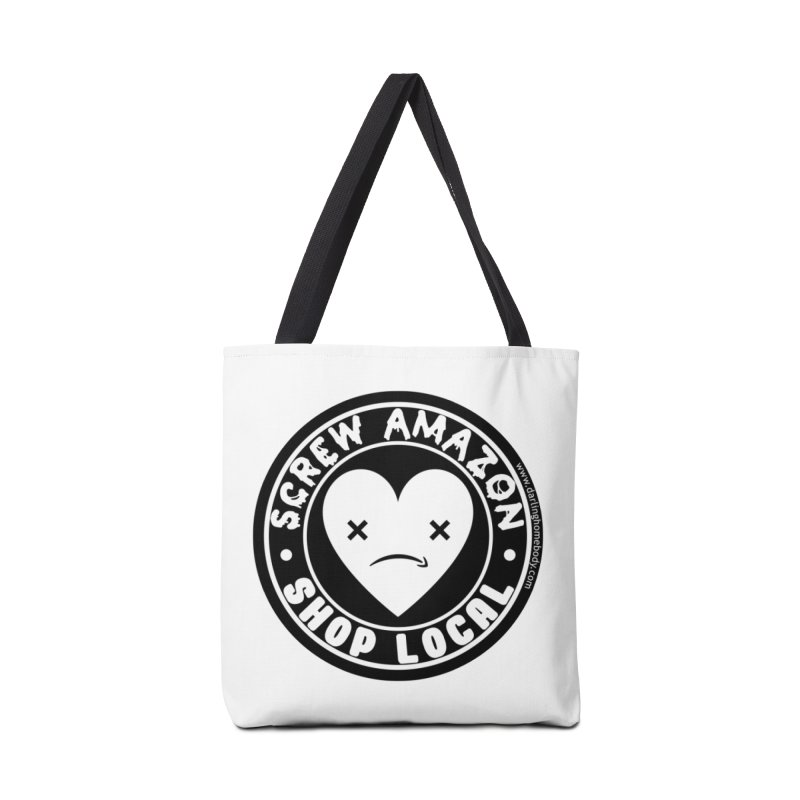 Screw Amazon Shop Local - Black Accessories Bag by Darling Homebody