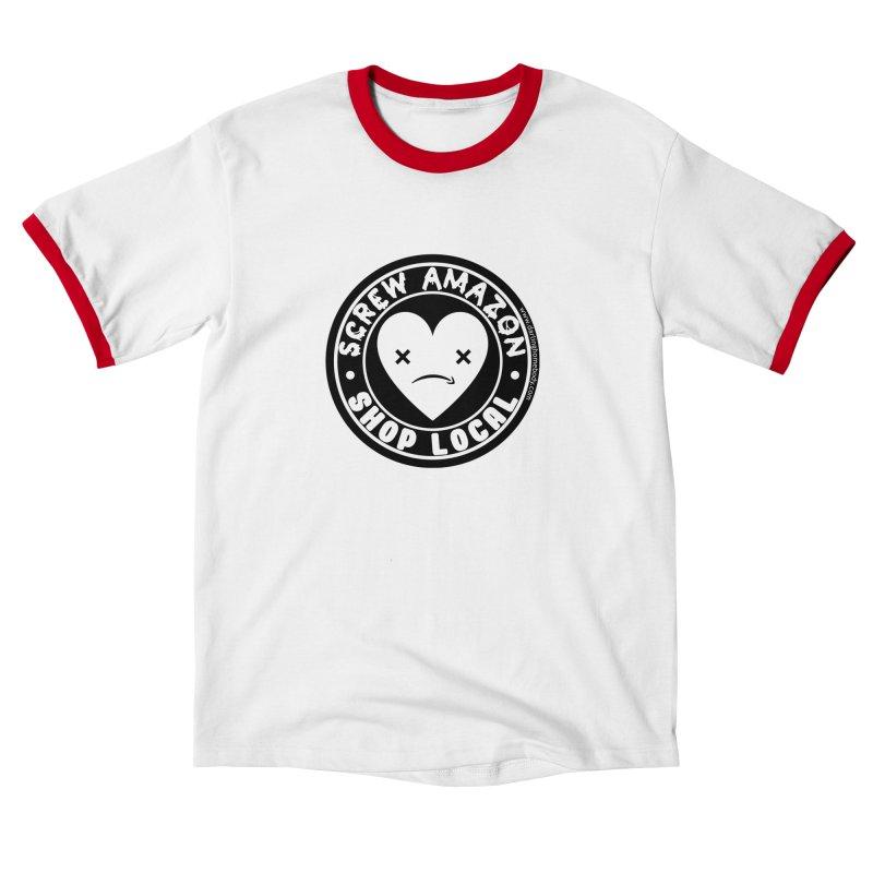 Screw Amazon Shop Local - Black Men's T-Shirt by Darling Homebody