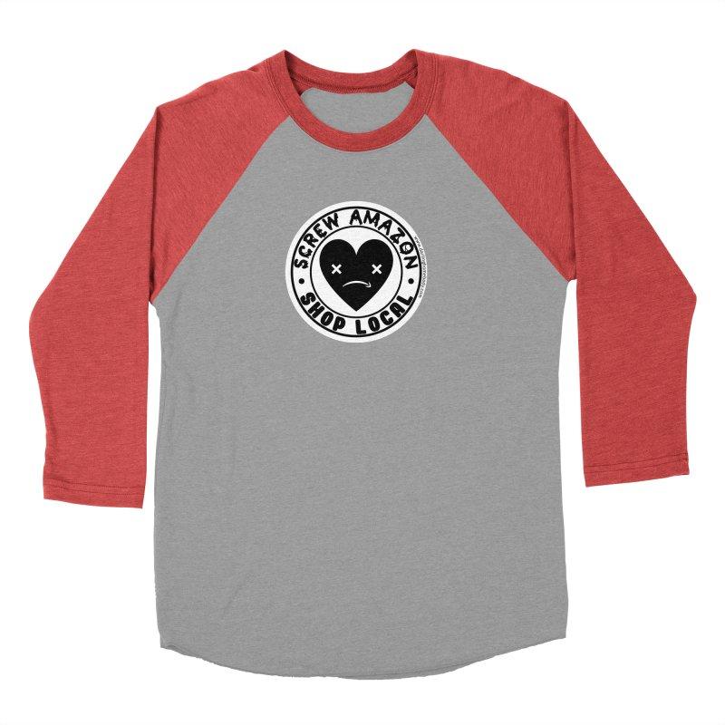 Screw Amazon Shop Local - White Men's Longsleeve T-Shirt by Darling Homebody