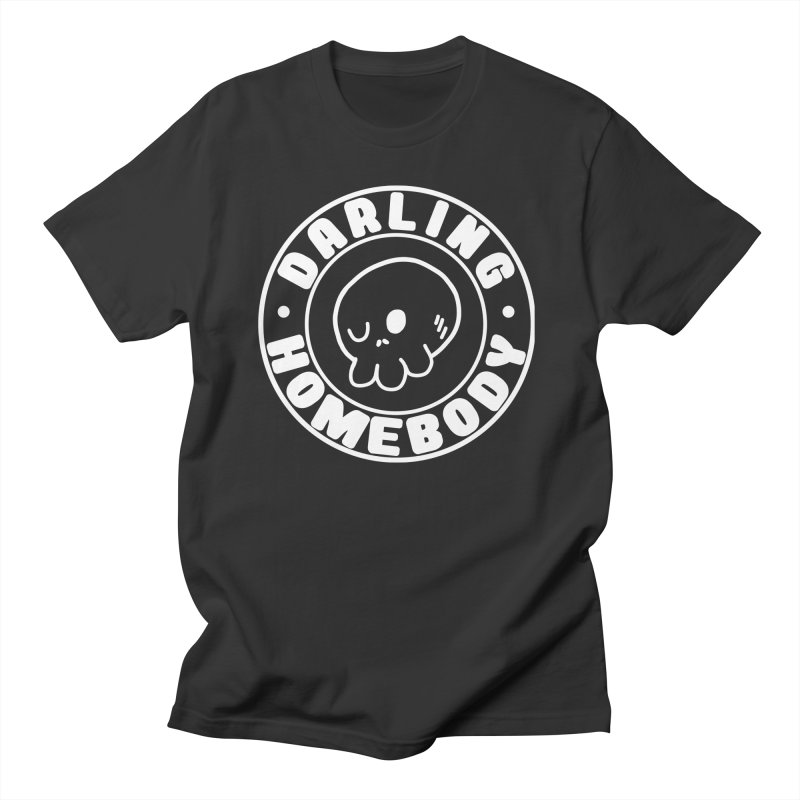 Darling Homebody White Logo Men's T-Shirt by Darling Homebody