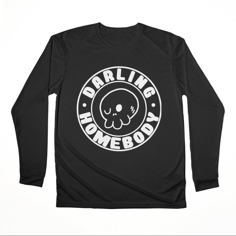 Darling Homebody White Logo Men's Longsleeve T-Shirt by Darling Homebody