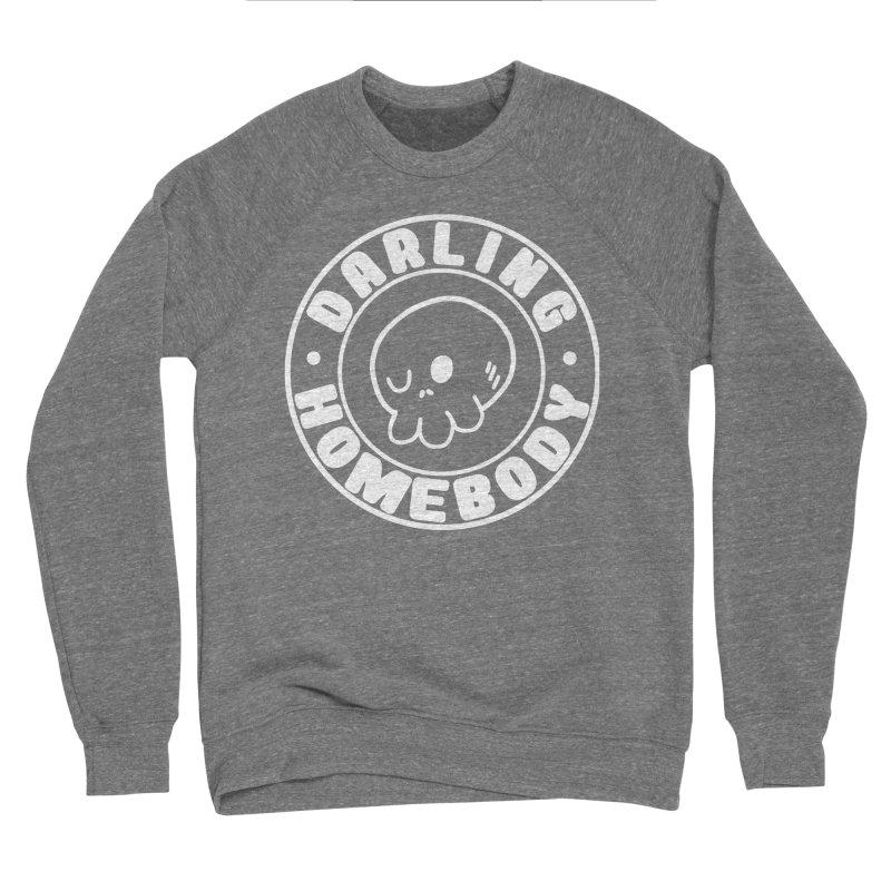 Darling Homebody White Logo Men's Sweatshirt by Darling Homebody