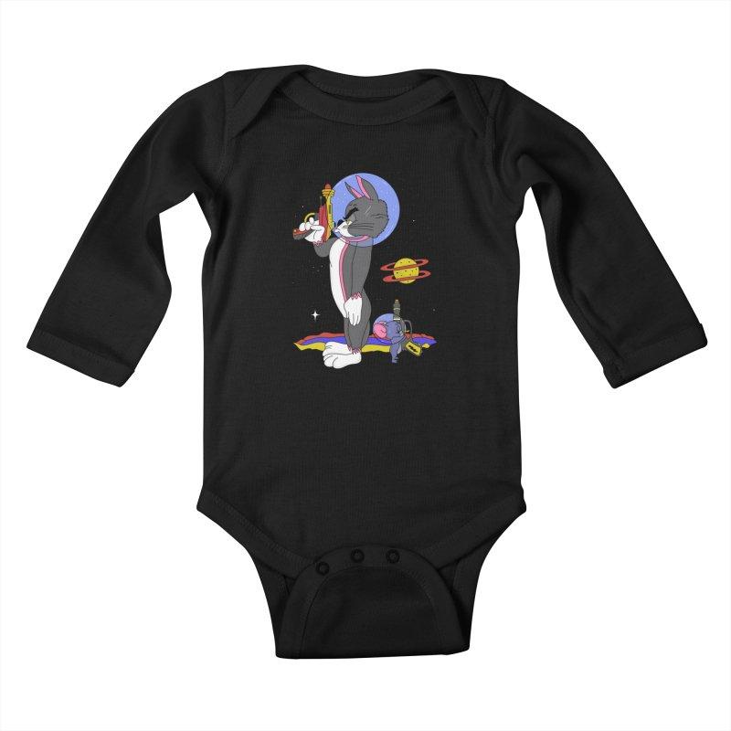 Planetary Rivals Kids Baby Longsleeve Bodysuit by darruda's Artist Shop