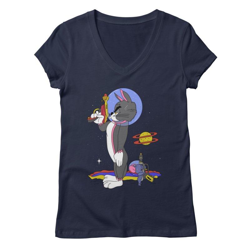 Planetary Rivals Women's Regular V-Neck by darruda's Artist Shop
