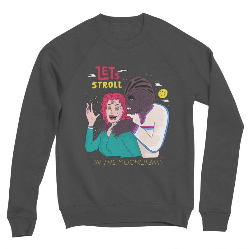 Let's Stroll in the Moonlight Men's Sponge Fleece Sweatshirt by darruda's Artist Shop