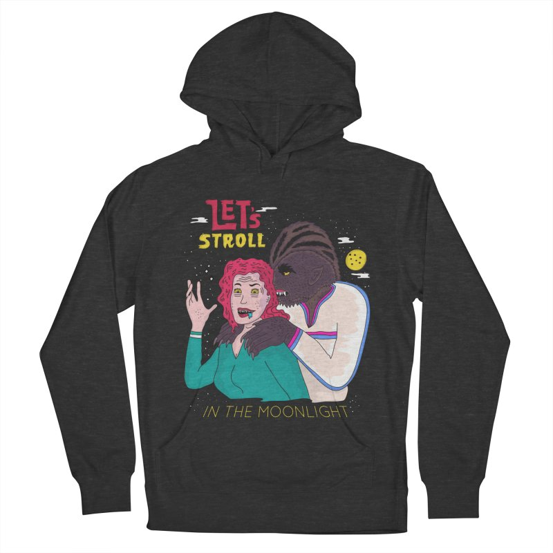Let's Stroll in the Moonlight Women's French Terry Pullover Hoody by darruda's Artist Shop