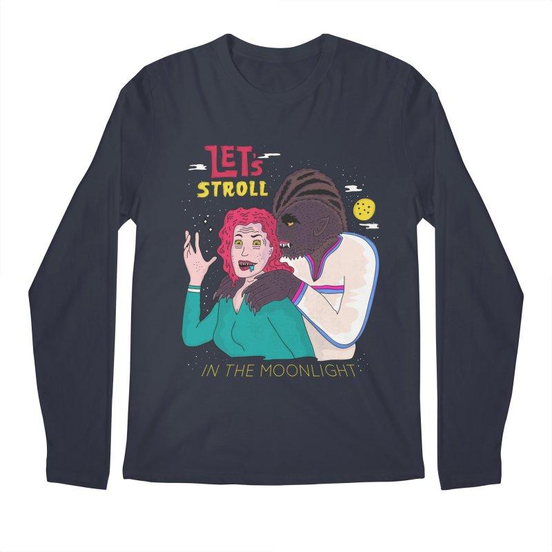 Let's Stroll in the Moonlight Men's Regular Longsleeve T-Shirt by darruda's Artist Shop