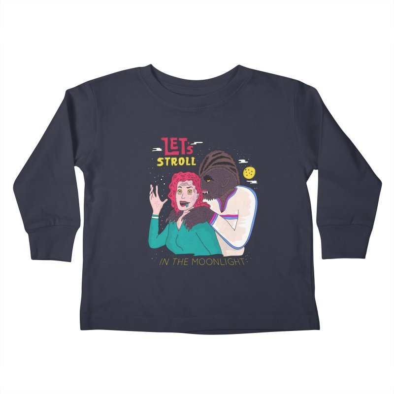 Let's Stroll in the Moonlight Kids Toddler Longsleeve T-Shirt by darruda's Artist Shop
