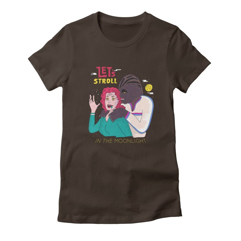 Let's Stroll in the Moonlight Women's Fitted T-Shirt by darruda's Artist Shop