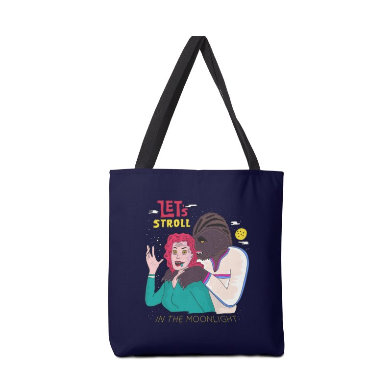 Let's Stroll in the Moonlight Accessories Tote Bag Bag by darruda's Artist Shop
