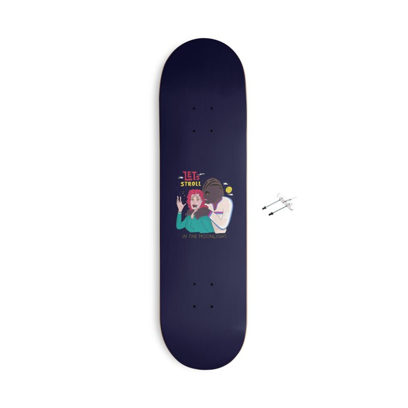 Let's Stroll in the Moonlight Accessories With Hanging Hardware Skateboard by darruda's Artist Shop