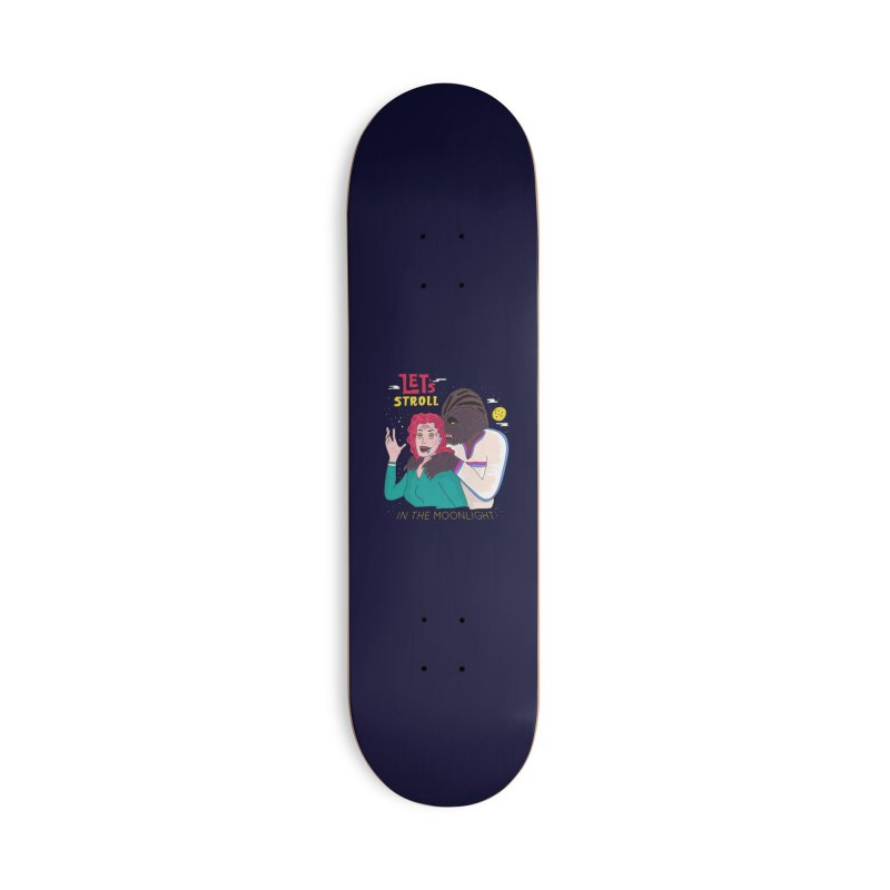 Let's Stroll in the Moonlight Accessories Deck Only Skateboard by darruda's Artist Shop