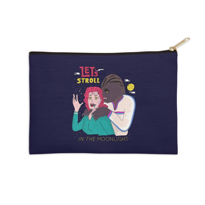 Let's Stroll in the Moonlight Accessories Zip Pouch by darruda's Artist Shop