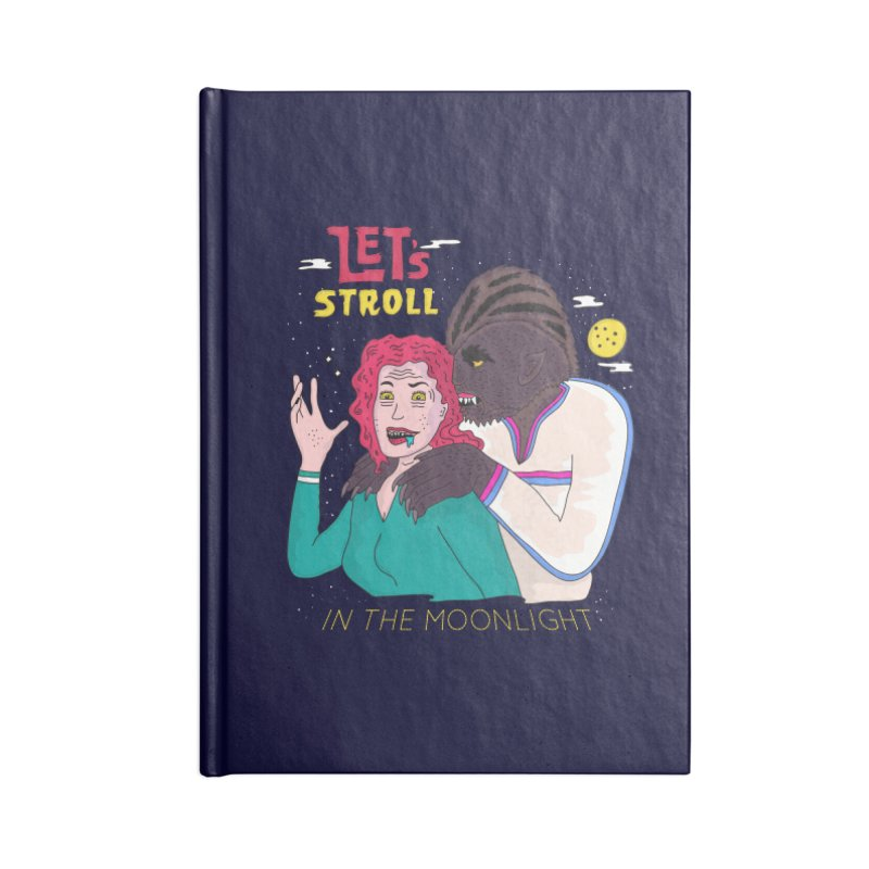 Let's Stroll in the Moonlight Accessories Blank Journal Notebook by darruda's Artist Shop