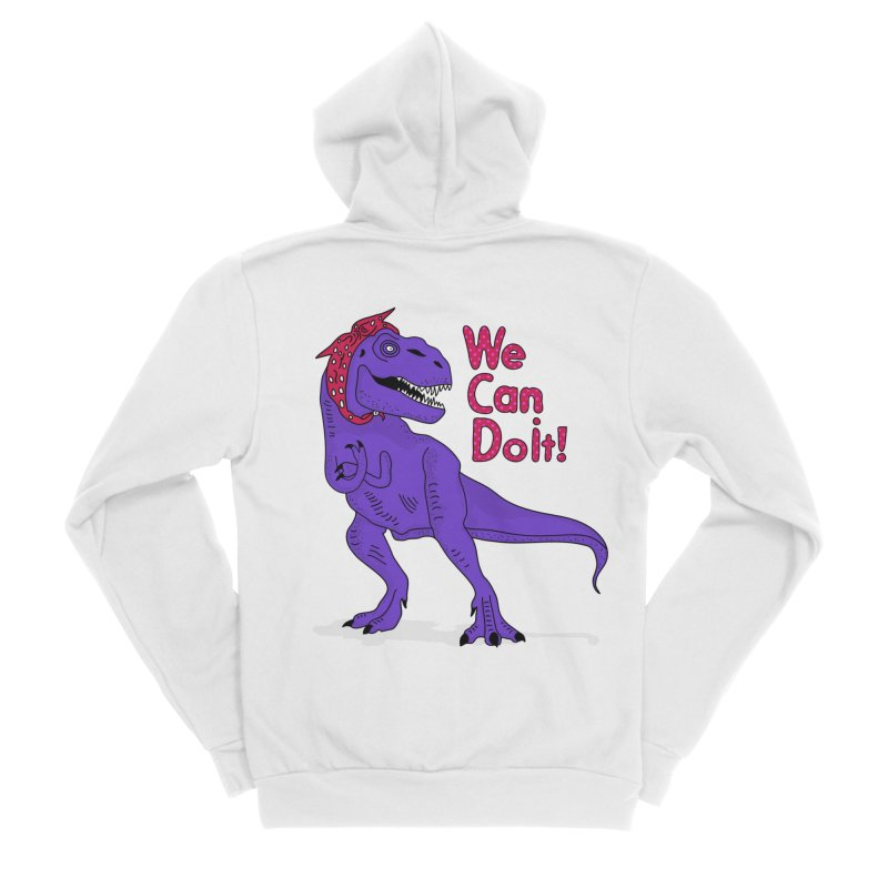 We Can Do it Men's Sponge Fleece Zip-Up Hoody by darruda's Artist Shop