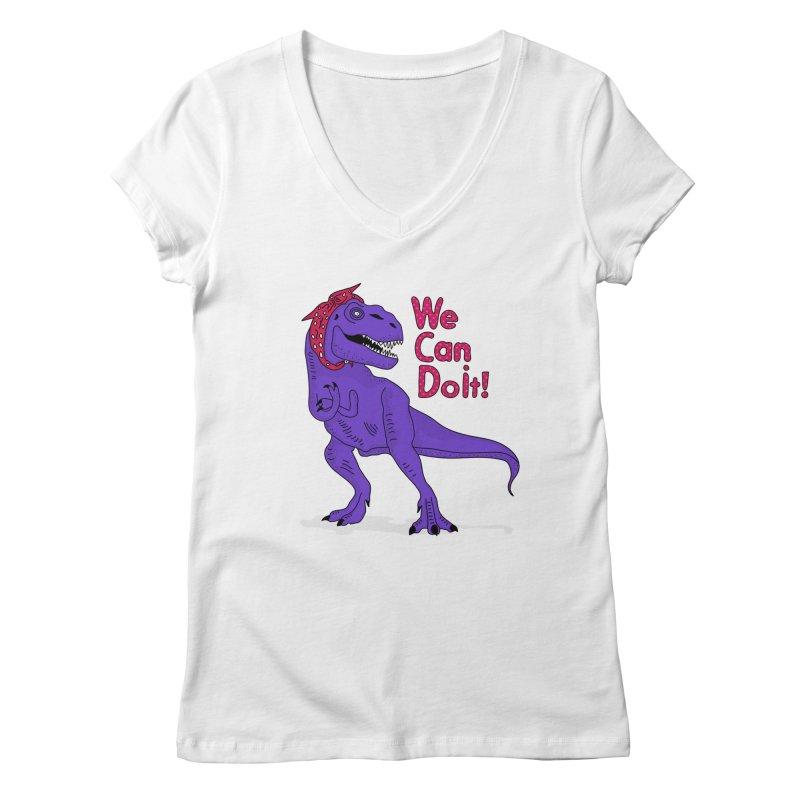 We Can Do it Women's Regular V-Neck by darruda's Artist Shop