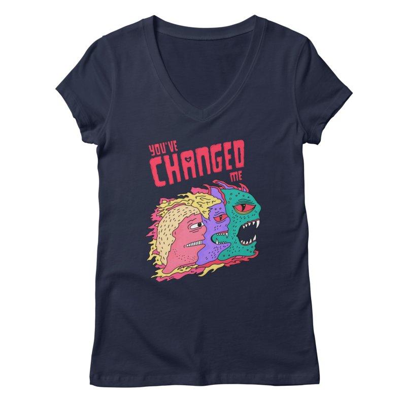 You've Changed Me Women's Regular V-Neck by darruda's Artist Shop
