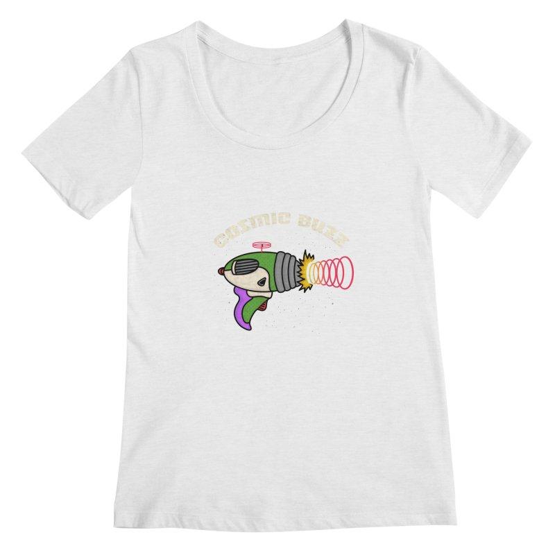 Cosmic Buzz Women's Regular Scoop Neck by darruda's Artist Shop