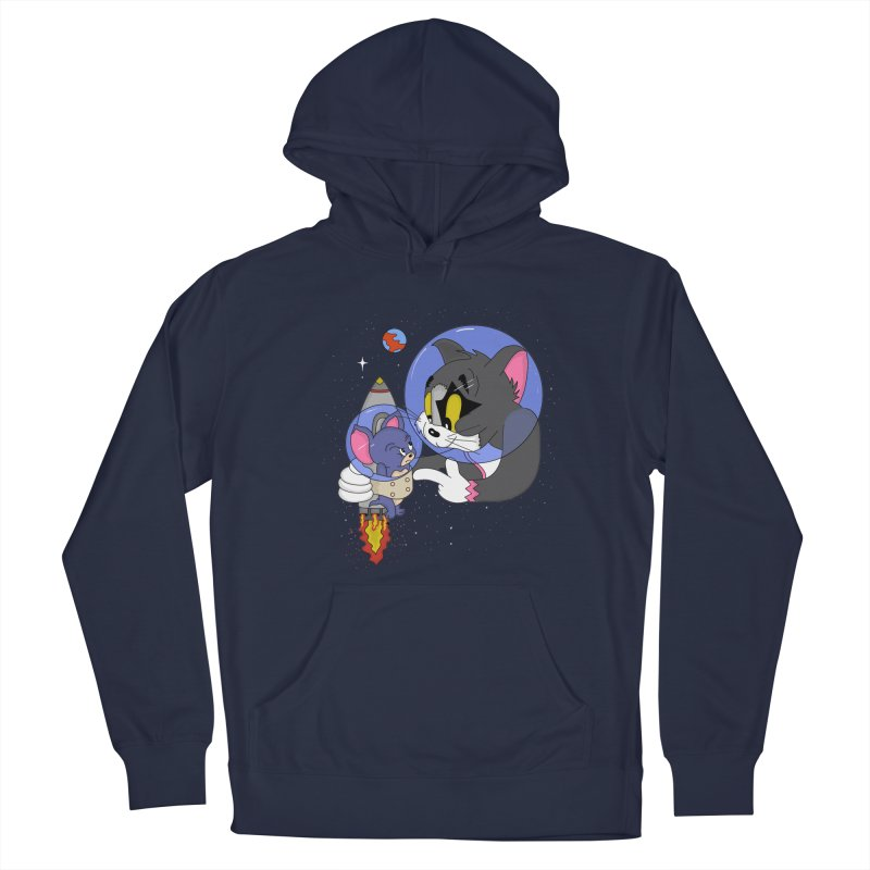 Space Rocket Men's French Terry Pullover Hoody by darruda's Artist Shop
