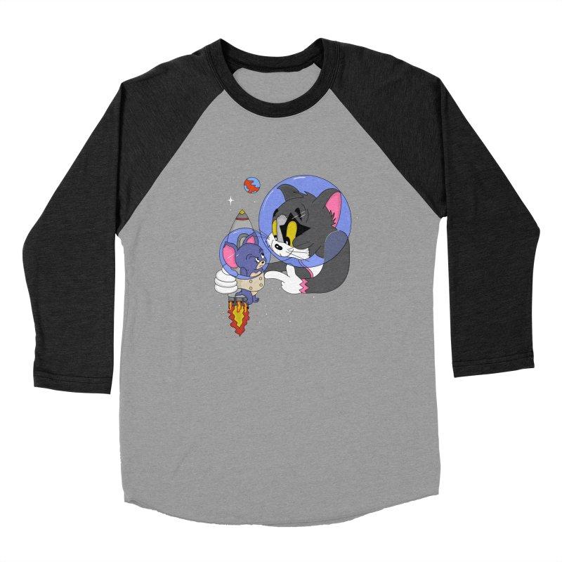 Space Rocket Women's Baseball Triblend Longsleeve T-Shirt by darruda's Artist Shop
