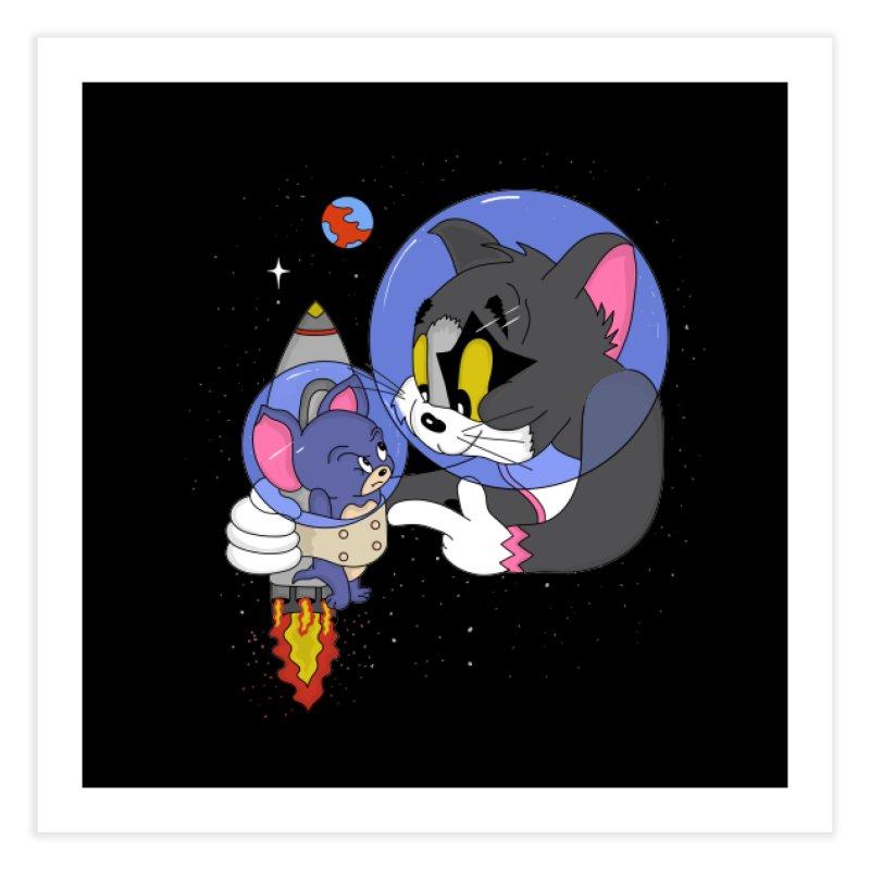 Space Rocket Home Fine Art Print by darruda's Artist Shop