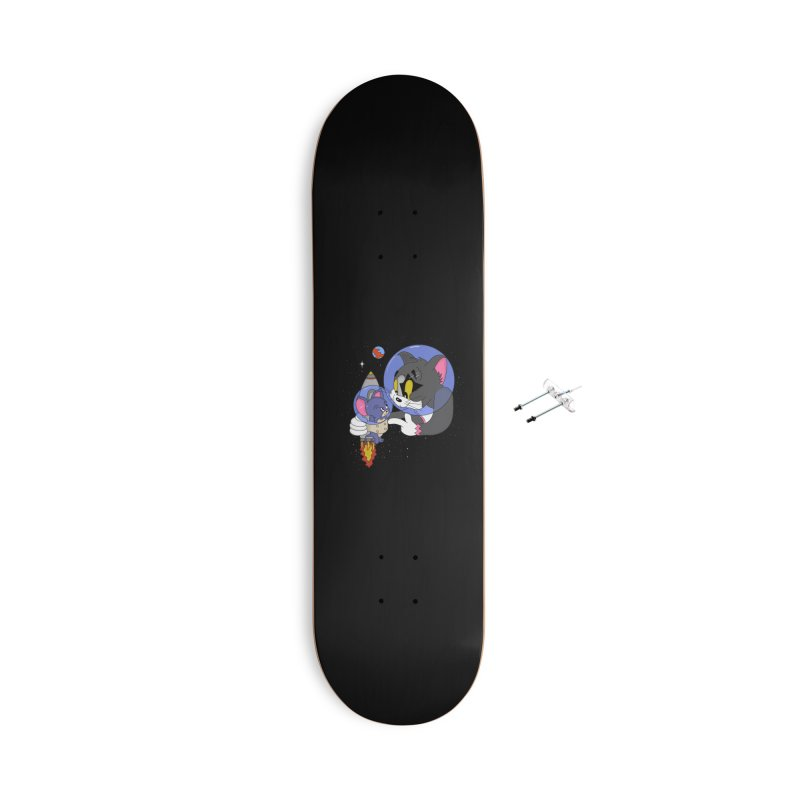 Space Rocket Accessories With Hanging Hardware Skateboard by darruda's Artist Shop