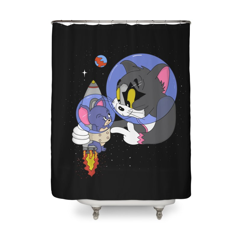 Space Rocket Home Shower Curtain by darruda's Artist Shop
