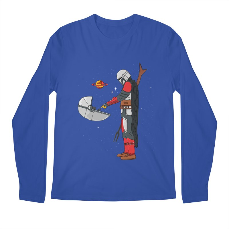 Space Mandalorian Men's Regular Longsleeve T-Shirt by darruda's Artist Shop