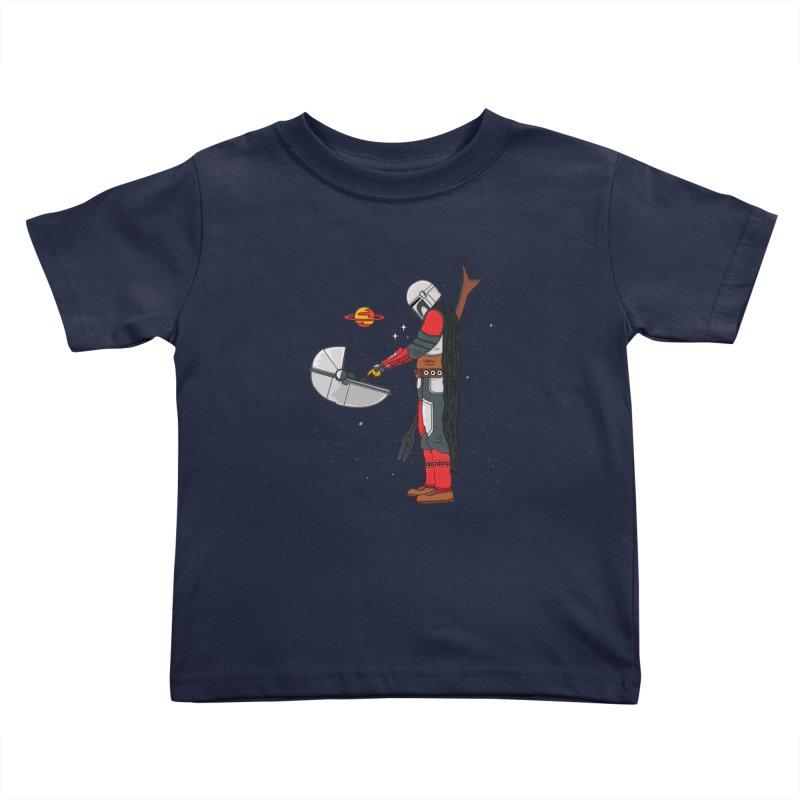 Space Mandalorian Kids Toddler T-Shirt by darruda's Artist Shop