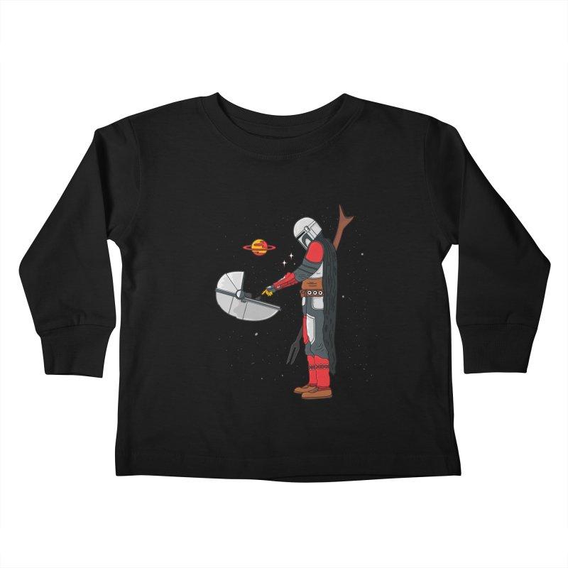Space Mandalorian Kids Toddler Longsleeve T-Shirt by darruda's Artist Shop