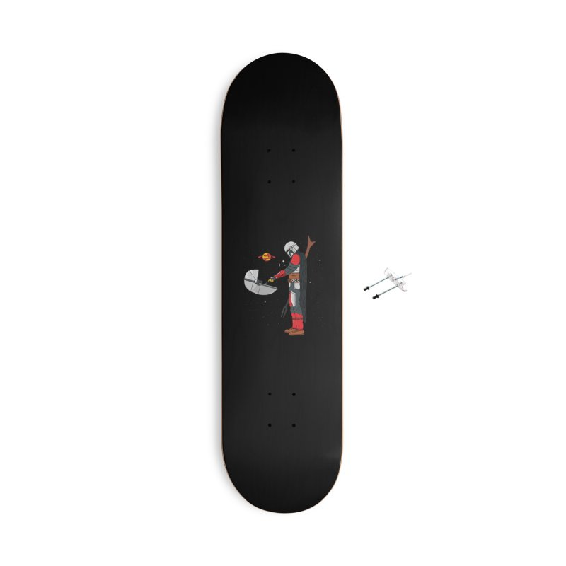 Space Mandalorian Accessories With Hanging Hardware Skateboard by darruda's Artist Shop