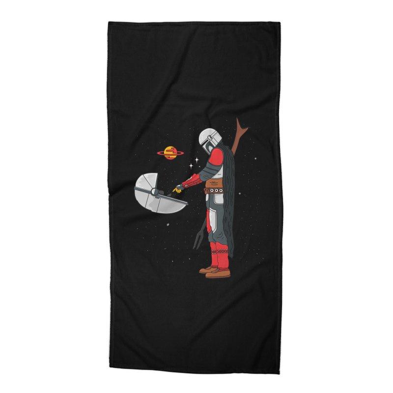 Space Mandalorian Accessories Beach Towel by darruda's Artist Shop
