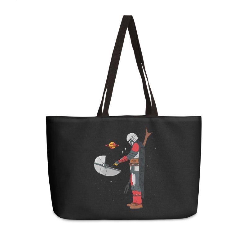 Space Mandalorian Accessories Weekender Bag Bag by darruda's Artist Shop