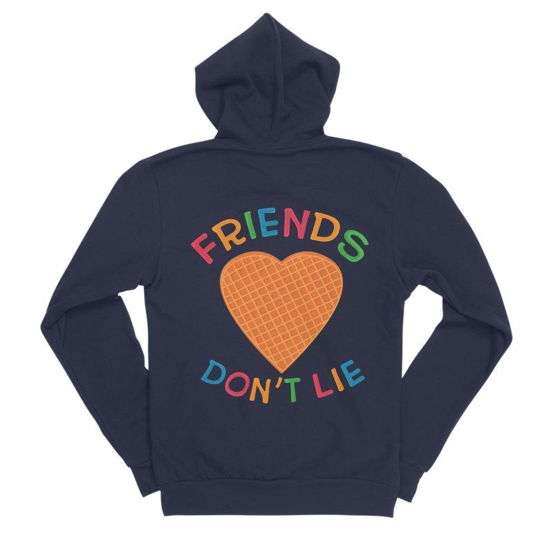 Friends Don't Lie Men's Sponge Fleece Zip-Up Hoody by darruda's Artist Shop