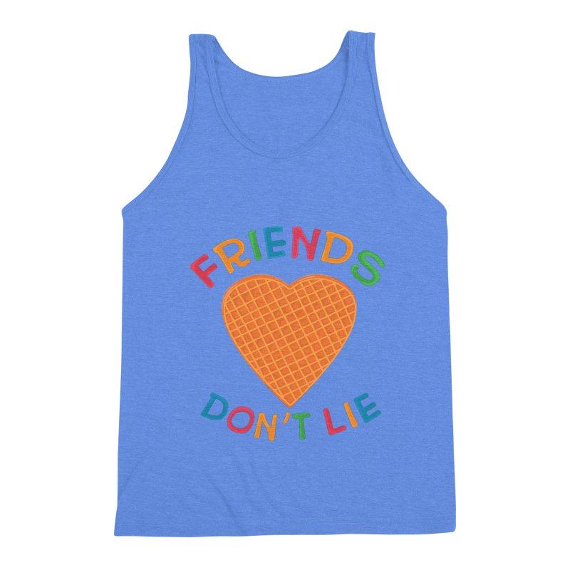 Friends Don't Lie Men's Triblend Tank by darruda's Artist Shop