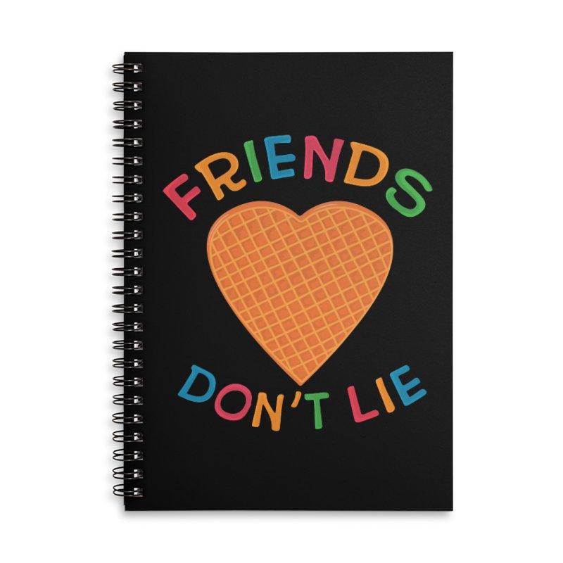 Friends Don't Lie Accessories Lined Spiral Notebook by darruda's Artist Shop