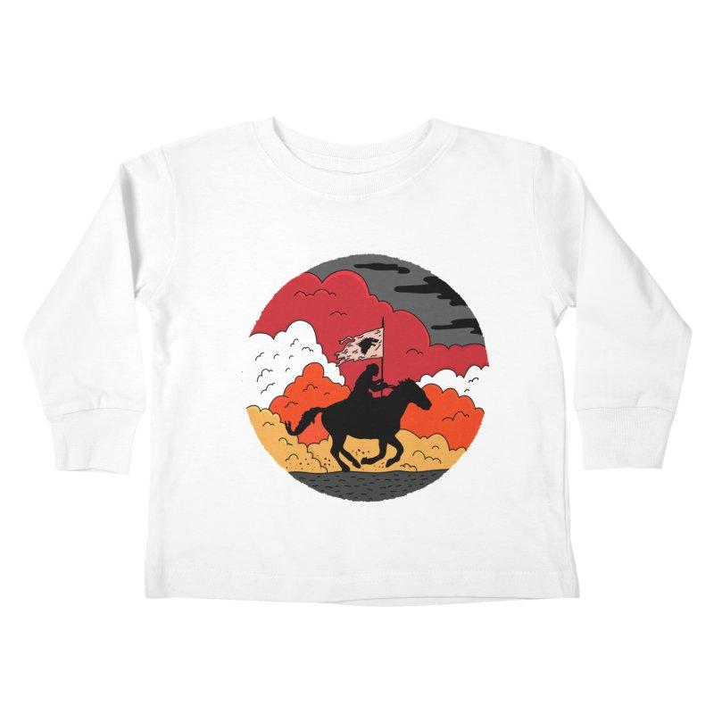Fight Fire with Fire Kids Toddler Longsleeve T-Shirt by darruda's Artist Shop