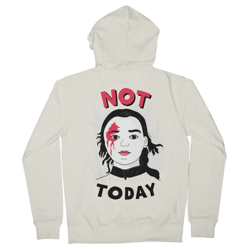 Not Today Women's French Terry Zip-Up Hoody by darruda's Artist Shop