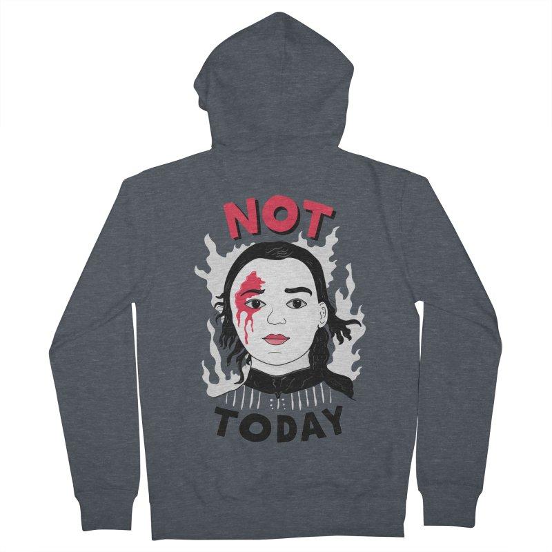 Not Today Men's Zip-Up Hoody by darruda's Artist Shop
