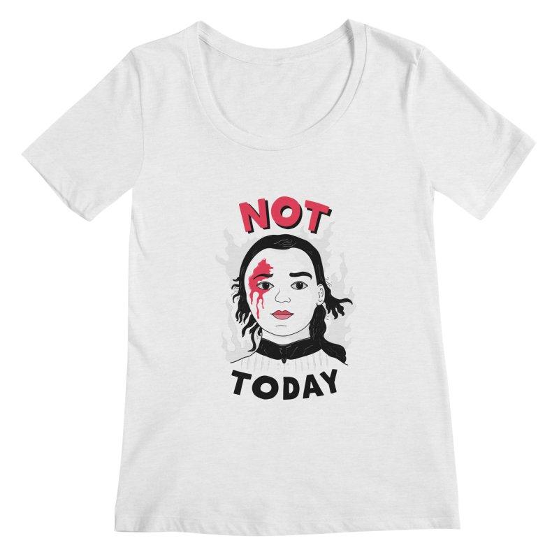 Not Today Women's Regular Scoop Neck by darruda's Artist Shop