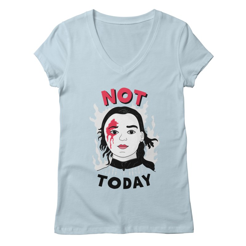 Not Today Women's Regular V-Neck by darruda's Artist Shop