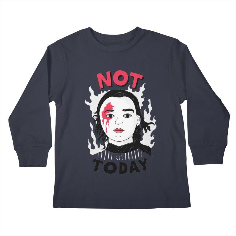 Not Today Kids Longsleeve T-Shirt by darruda's Artist Shop