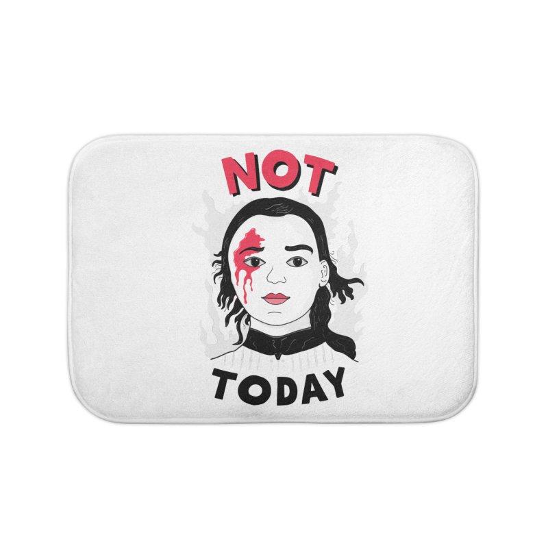 Not Today Home Bath Mat by darruda's Artist Shop