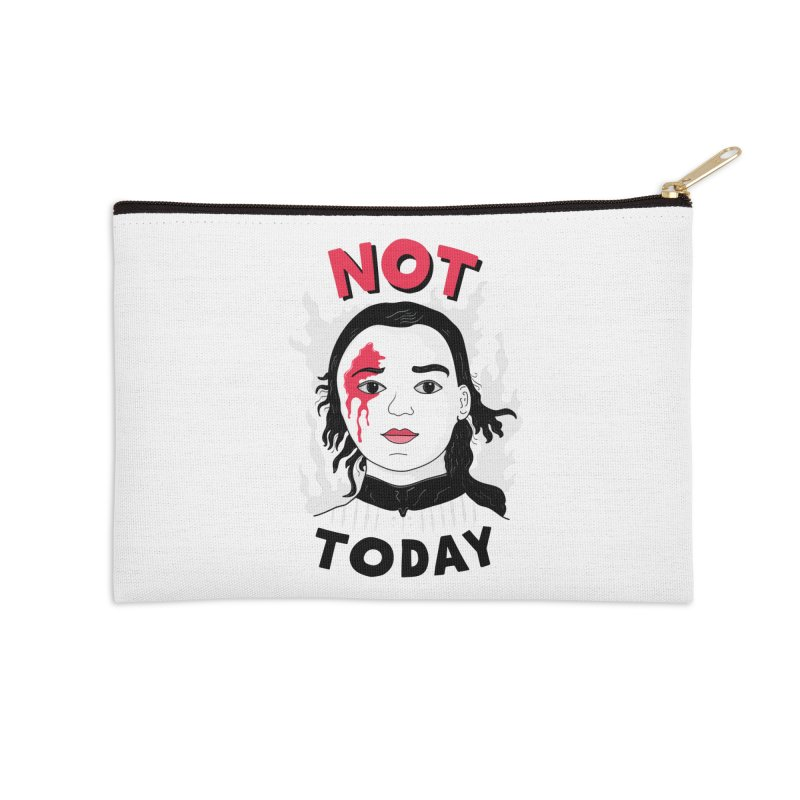 Not Today Accessories Zip Pouch by darruda's Artist Shop