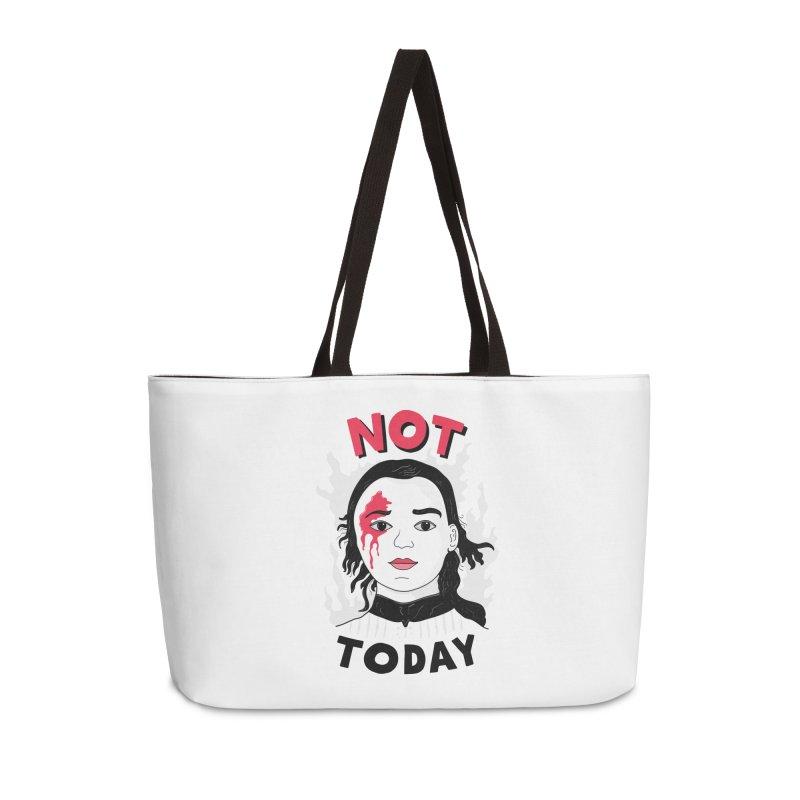 Not Today Accessories Weekender Bag Bag by darruda's Artist Shop