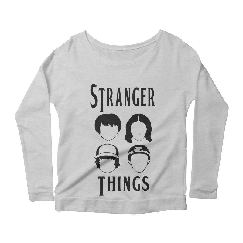 The Four Kids from Hawkins Women's Scoop Neck Longsleeve T-Shirt by darruda's Artist Shop