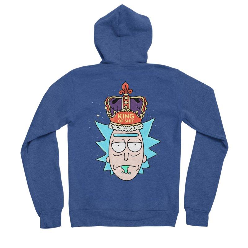 King of Shit Men's Sponge Fleece Zip-Up Hoody by darruda's Artist Shop