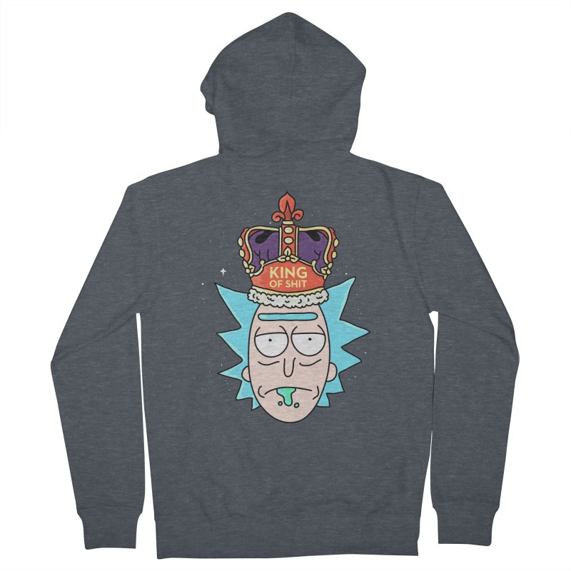 King of Shit Women's French Terry Zip-Up Hoody by darruda's Artist Shop